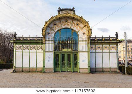 Karlsplatz Subway Station Entrance