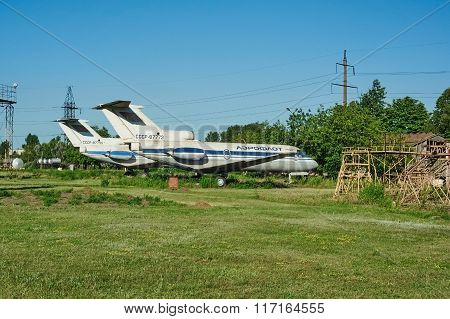 Two Old Soviet Aircrafts Yak-40