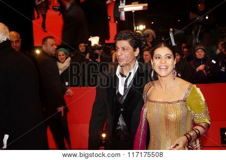 BERLIN - FEBRUARY 12:   Shahrukh Khan  and Kajol Devgan attend the 'My Name Is Khan' Premiere during day two of the 60th Berlin Film Festival at the Palast on February 12, 2010 in Berlin, Germany
