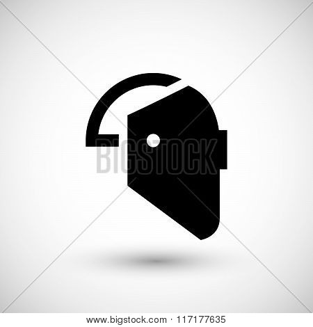 Welding mask icon