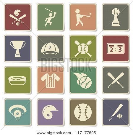 Baseball simply icons