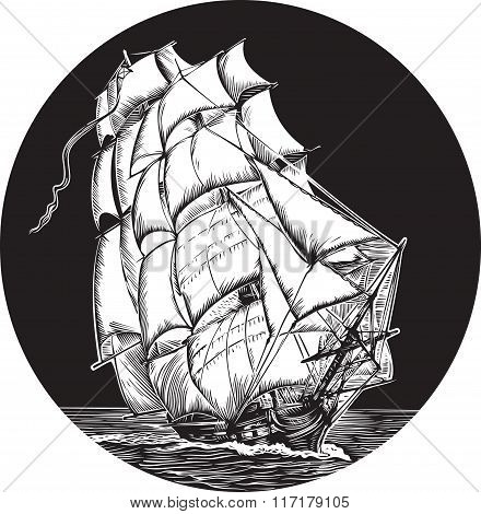 Emblem Of Old Ship