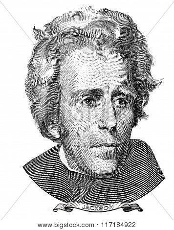 President Of The United States Andrew Jackson Portrait
