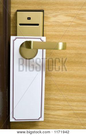 Empty Label On A Door Handle