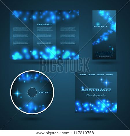 Design Templates Collection For Banners, Flyers And Posters. Bokeh Light Design. Shining Banners Set