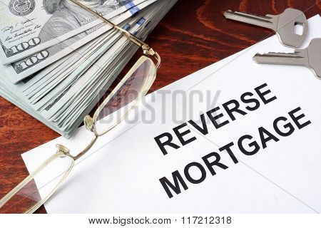 Reverse mortgage form.