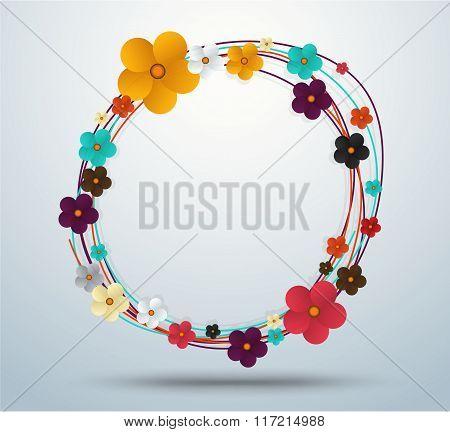 Floral Frame, Floral Elegance Frames And Holiday Symbols. Vector Stock.