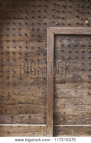 Medieval door with spikes