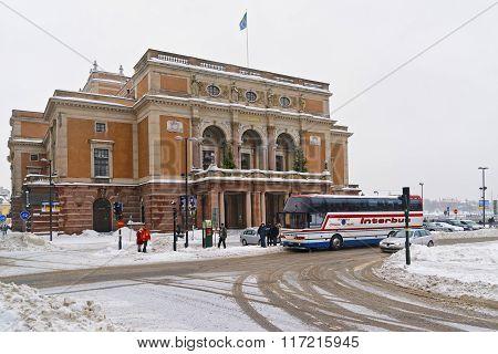 Royal Swedish Opera In Winter Stockholm