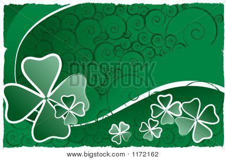 Clover Swirl Background