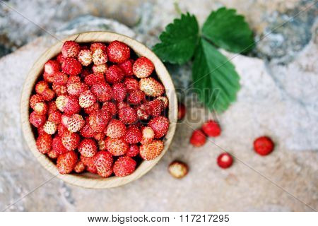 strawberry, top view