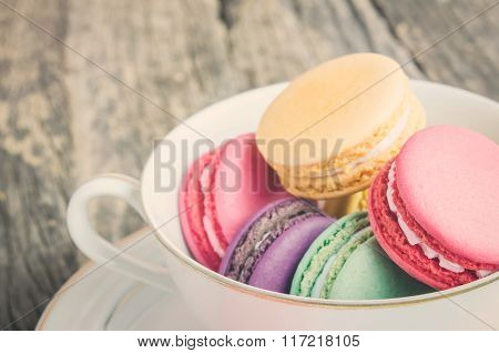 Colorful And Pastel Macaroons