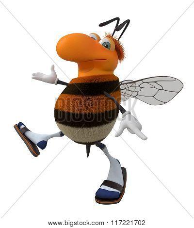 3D Fluffy Bumblebee