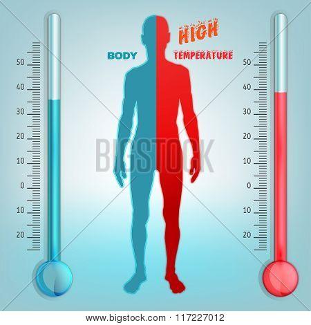Vector Body temperature