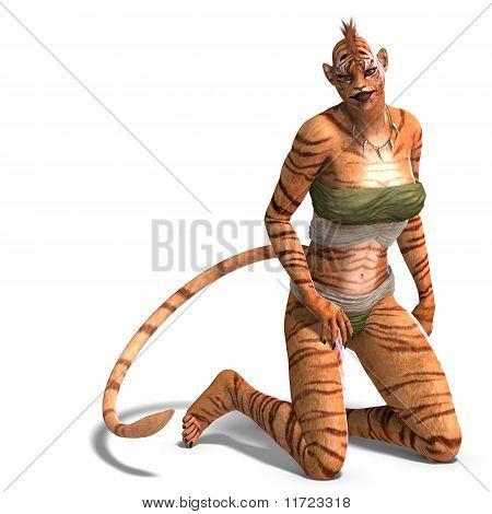Female Fantasy Figure Tiger