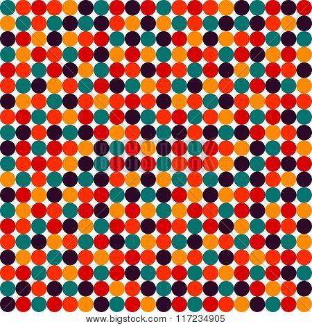 Seamless Polka Dot Vector Pattern