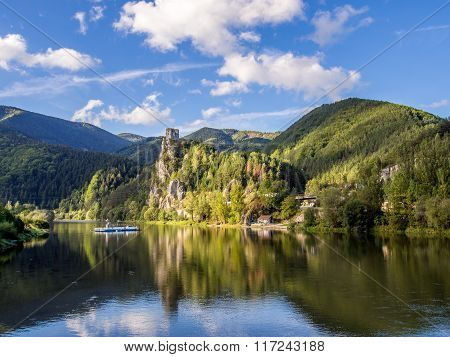 Strecno Castle In Northern Slovakia
