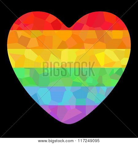 Poster with LGBT support symbol.
