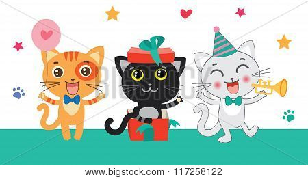 Set Of Cute Little Cats. Cartoon Animal. Vector Collection. Congratulates Card. Cutie Cat Pictures. Cutie Cat Memes. Cutie Cat Drawing. Cat Costume. Cat As Pet. Cat As Toy.