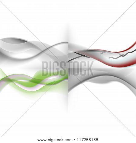 set of light abstract screensavers