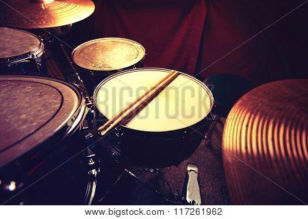 Drums And Drumsticks.