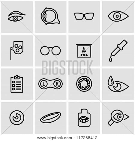 Vector Line Optometry Icon Set