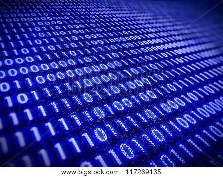 Digital information concept - binare code background