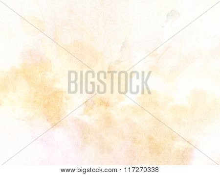 Yellow watercolor background - abstract pastel spring design with soft vintage texture