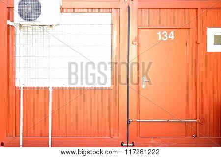 Container with Locked door