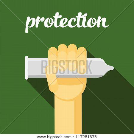 condom vector illustration, protection, sex, cartoon condom, sex protection, hand with condom, contr