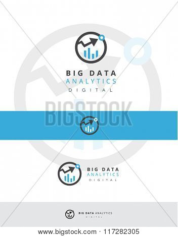 VECTOR LOGO DESIGN FOR ANY DATA AND STATISTICS COMPANY