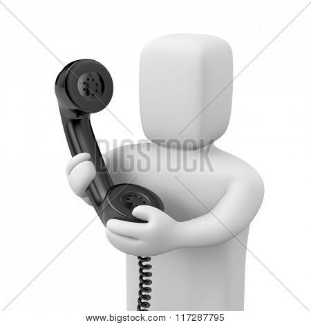 Person hold phone tube