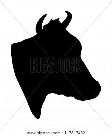 Cow head silhouette