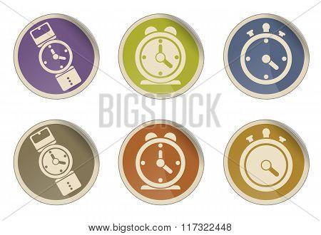 Different clocks icons