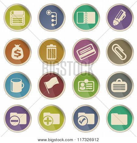 Office simple icons