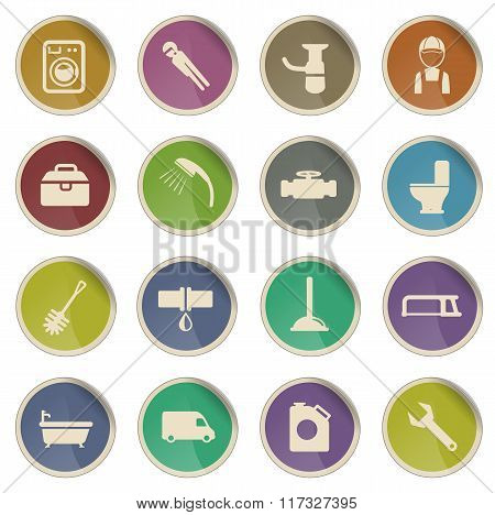 Plumbing service simply icons