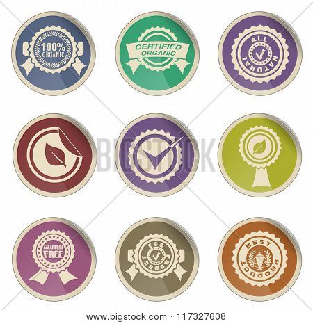 Seals icon set