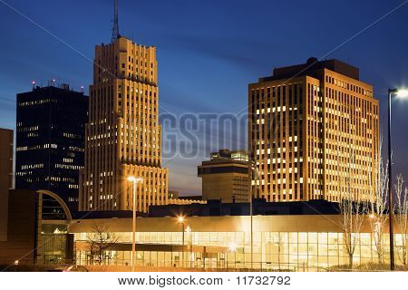 Skyline Of Akron, Ohio