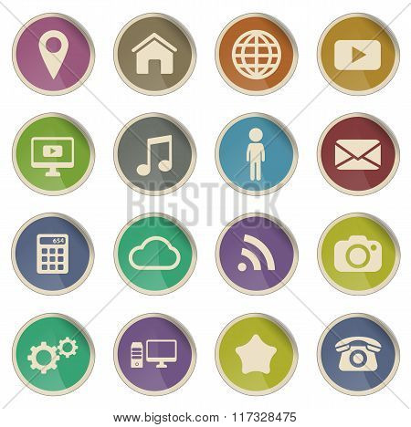Social media simply icons