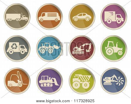 Symbols of Transportation and Loading Machines