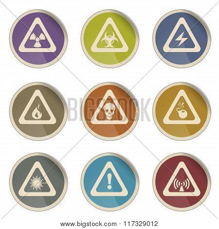 Hazard Sign Icons