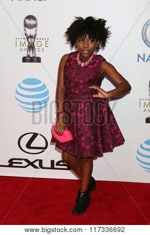 LOS ANGELES - FEB 5:  Trinitee Stokes at the 47TH NAACP Image Awards Arrivals at the Pasadena Civic Auditorium on February 5, 2016 in Pasadena, CA