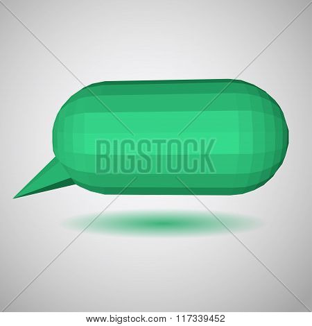 Green Low Polygonal Speech Bubbles