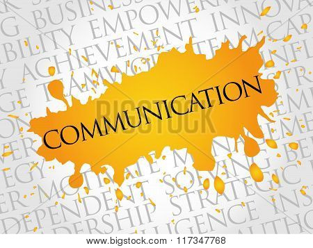 COMMUNICATION word cloud education concept, presentation background