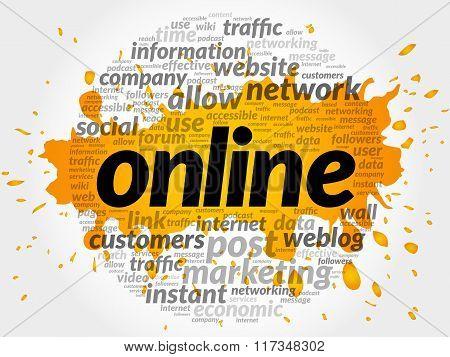 Online. Word Collage