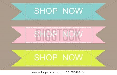 Shop Now Banner Design Set