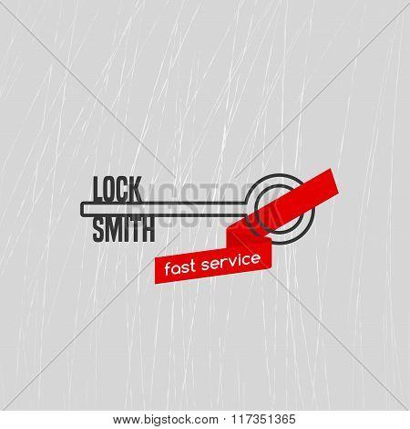 Locksmith vector logo, icon