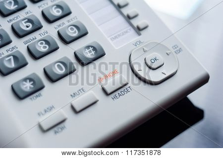Detail Of Executive Voip Desk Phone Buttons