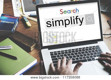 Simplify Clarify Easy Simple Concept