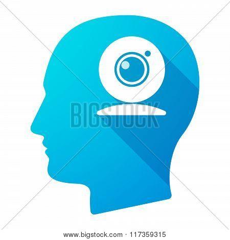 Male Head Icon With A Web Cam